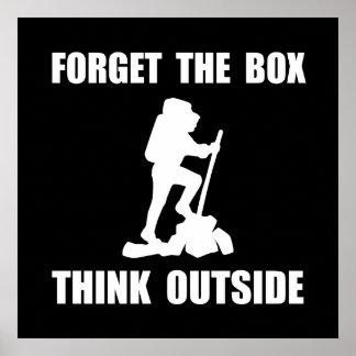 Piense afuera póster