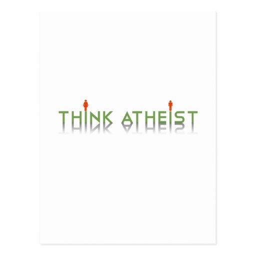 Piense al ateo tarjetas postales
