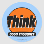 Piense al buen pegatina de los pensamientos