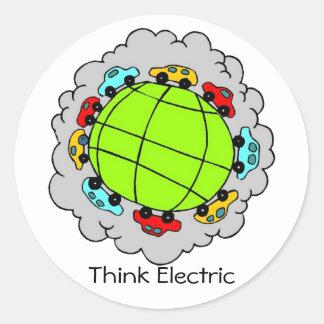 Piense al pegatina eléctrico