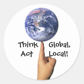 Piense al pegatina global