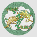 Piense al pegatina verde