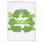 Piense Andorra verde Tarjetas