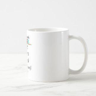 Piense antes de que usted hable taza de café