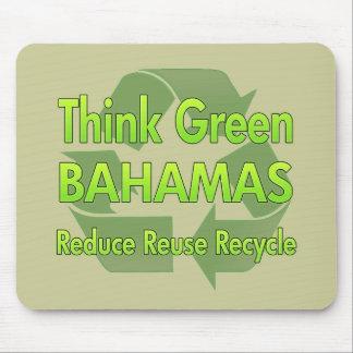 Piense Bahamas4 verde Tapetes De Ratón