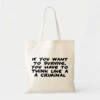 Piense como un criminal bolsa tela barata