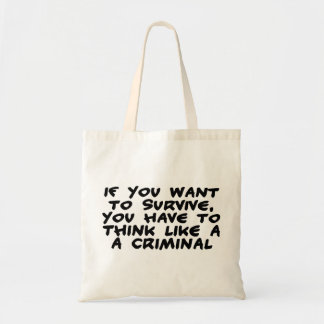 Piense como un criminal bolsa lienzo