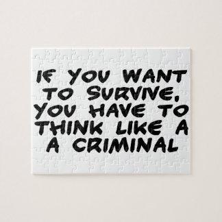 Piense como un criminal rompecabeza con fotos