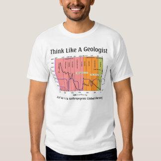 Piense como un geólogo remeras