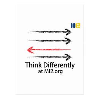 Piense diferentemente - dirigido en la dirección c postal