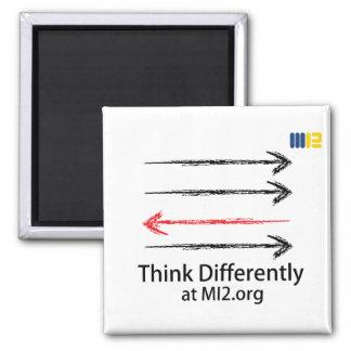 Piense diferentemente - dirigido en la dirección imán cuadrado