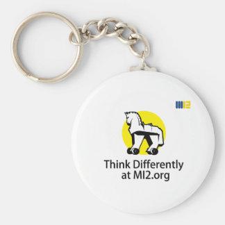 Piense diferentemente - el caballo en el regalo de llavero personalizado