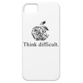 piense difícil funda para iPhone SE/5/5s