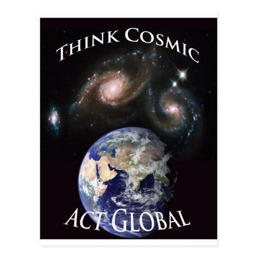 piense el acto cósmico global postal