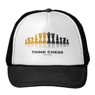 Piense el ajedrez (el juego de ajedrez) gorra