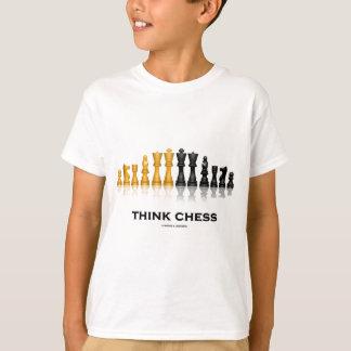 Piense el ajedrez (el juego de ajedrez) polera