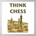 Piense el ajedrez impresiones