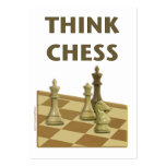 Piense el ajedrez plantillas de tarjetas de visita