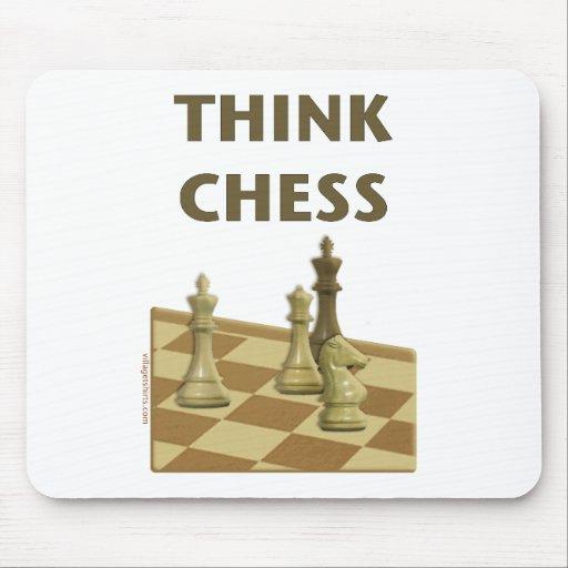 Piense el ajedrez tapetes de ratón