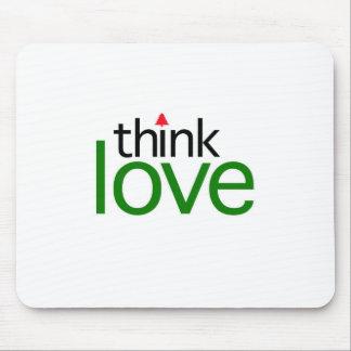 Piense el amor (la edición del amor del navidad) tapetes de raton