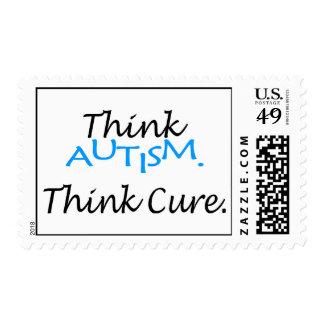 Piense el autismo, piense la curación sello