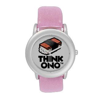 Piense el bocado de Musubi del Spam de Ono #1 Horm Relojes De Mano