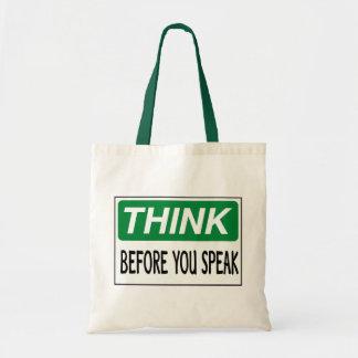 Piense el bolso bolsas de mano