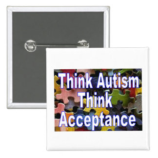 Piense el botón del autismo pins