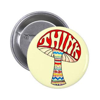 Piense el botón pin redondo de 2 pulgadas