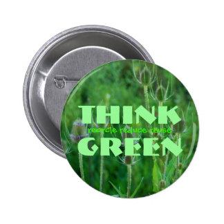 Piense el botón verde pins