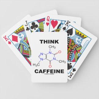 Piense el cafeína la molécula química del cafeína baraja cartas de poker