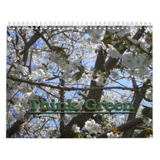 Piense el calendario verde