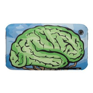 Piense el cerebro verde iPhone 3 Case-Mate cárcasa