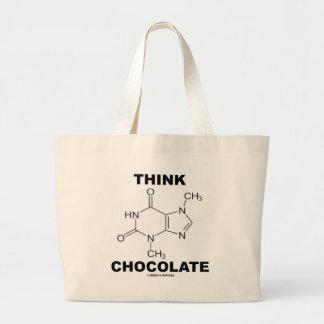 Piense el chocolate (la química de la molécula de  bolsas