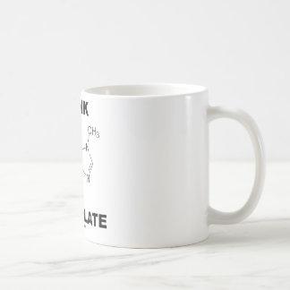 Piense el chocolate (la química de la molécula de taza de café