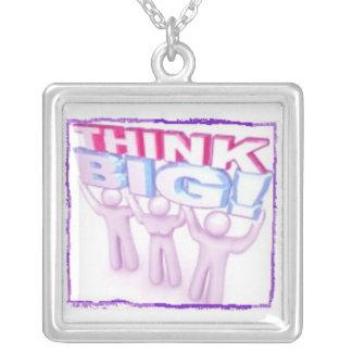Piense el collar cuadrado enmarcado grande - marco
