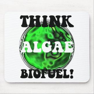 ¡Piense el combustible biológico de las algas! Alfombrilla De Ratón