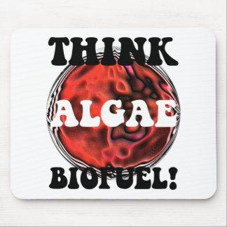 Piense el combustible biológico de las algas alfombrillas de ratones