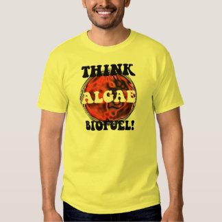 Piense el combustible biológico de las algas camisas