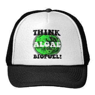 ¡Piense el combustible biológico de las algas! Gorros Bordados