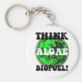 ¡Piense el combustible biológico de las algas! Llavero Redondo Tipo Pin