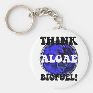 Piense el combustible biológico de las algas llavero redondo tipo pin