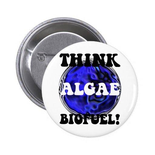 Piense el combustible biológico de las algas pins