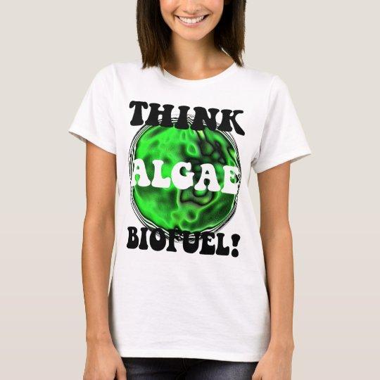 ¡Piense el combustible biológico de las algas! Playera