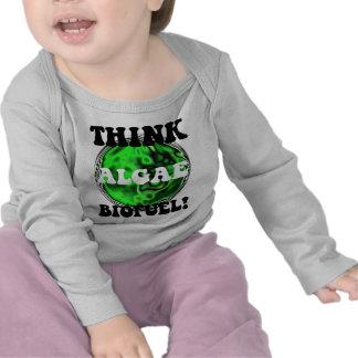 ¡Piense el combustible biológico de las algas! Camiseta