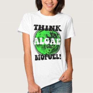 ¡Piense el combustible biológico de las algas! Polera