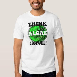 ¡Piense el combustible biológico de las algas! Remera