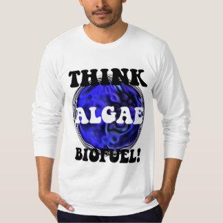 Piense el combustible biológico de las algas remera