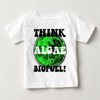 ¡Piense el combustible biológico de las algas! Remeras