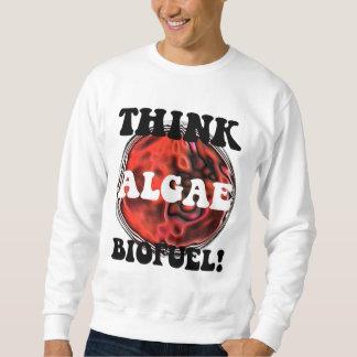 Piense el combustible biológico de las algas sudaderas encapuchadas